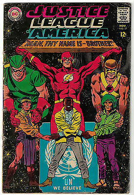 DC Comics JUSTICE LEAGUE OF AMERICA The World's Greatest Superheroes No 57 VG