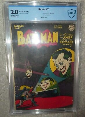 DC COMICS BATMAN CGC CBCS 2.0 Joker appearance 37 golden age Steals
