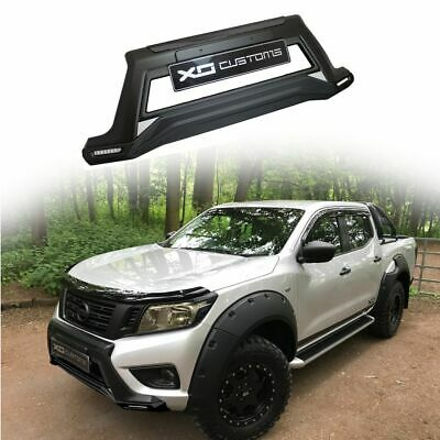 MATTE BLACK XO Front Bumper Nudge Bar with DRLs  For Nissan Navara NP300