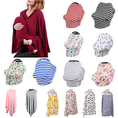 Baby Mum Breastfeeding Cover Cotton Canopy Breathable Nursing Safe Blanket Apron