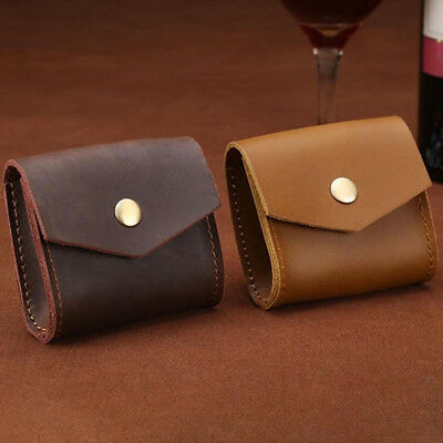 New Genuine Leather Mini Wallet Coin Purse Bag Money Earphone Key Holder Pouch