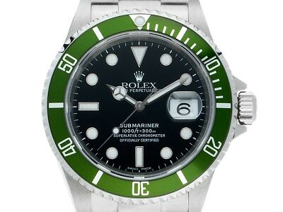 Rolex Submariner Mark III Flat four Stahl Ref.16610 LV Vintage Bj.2004 Box&Pap.