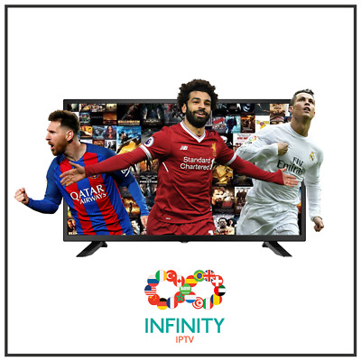 "INFINITY IPTV SUBSCRIPTION +9000 CHANNELS & VOD Arab,Europe,UK ""12 Months"""