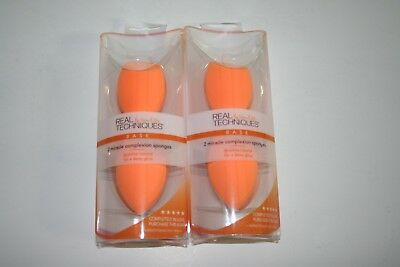 2-New Real Techniques 2-pack Miracle Complexion Sponge (4 sponges)