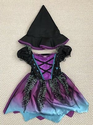 Baby Girl Halloween Witch Costume 12-24 Months Black With Hat