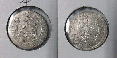 1623 Riga (Sweden) Silver 3 Polker-400 years old
