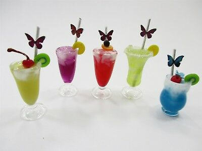 Dollhouse Miniatures Food Beverage Drinks Mixed Cocktail 5 Real Glass 13852