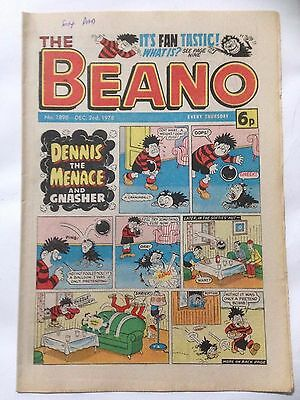 DC Thompson THE BEANO Comic. Issue 1898 December 2nd 1978 **Free UK Postage**