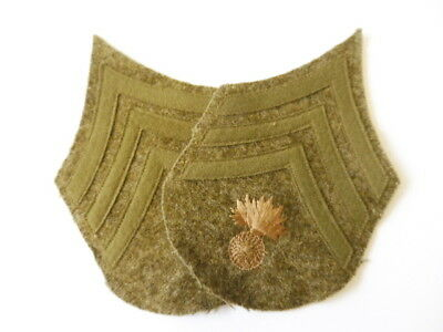 U.S. Army WWI, Pair Sergeant Ordnance Department patches