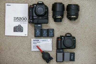 Nikon DSLR Starter Kit With Two Cameras, Bonus Lenses And Accessories