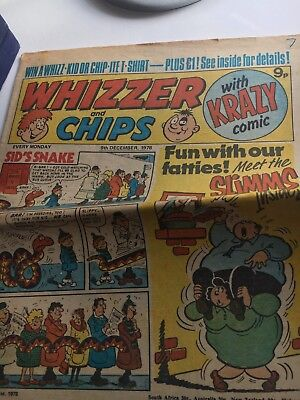 Whizzer and Chips Comic 9 December 1978