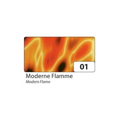 folia 85001 Transparentpapier 115 g/m², 50,5x70cm, Moderne Flamme, orange (10 Bo