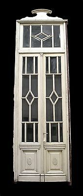 Beveled Glass Doors with Transom