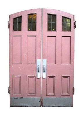 Pair of Arched Top Entry Antique Double Doors