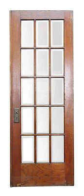 15 Vertical Glass Panel Beveled Door
