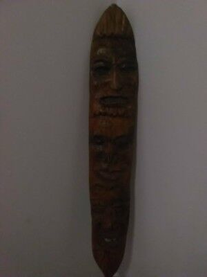 3 Face  Wooden Carved African Africa Wall Hanging Tribal Mask Wood art