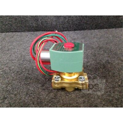 "Asco 8210G094 Brass Solenoid Valve, 1/2"", Normally Closed, 120 Volts"