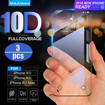 10D CURVE FOR iPhone X XS MAX XR Full Cover Real Tempered