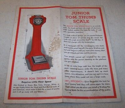 Original 1949-50 Sales Brochure - Fortune Telling Scales - Watling Mfg. Co.
