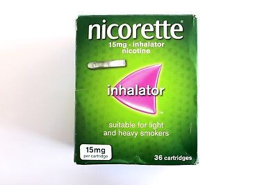 Nicorette Inhalator 15mg Nicotine - 36 Cartridges - 15mg Per Cartridge