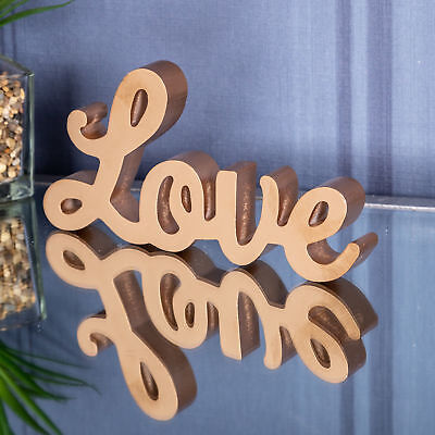 Freestanding Gold Love Plaque Sign Wedding Accessory Chic Home Decor