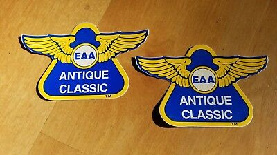 EAA Antique Classic stickers. Experimental Aircraft Association, Oshkosh.