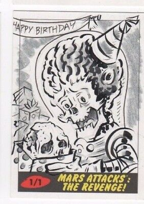 2017 Mars Attacks Revenge sketch card Jason Crosby