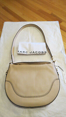 d6575ed40433 Marc Jacobs NY The Drifter Large Shoulder Bag Buff Leather  495 Authentic  NWT