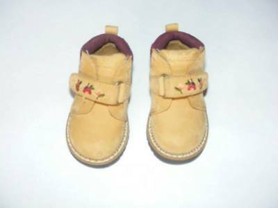 75f9967637d520 Weebok By Reebok Baby Girl Brown Leather Garden Velcro Boots Toddler Size 3