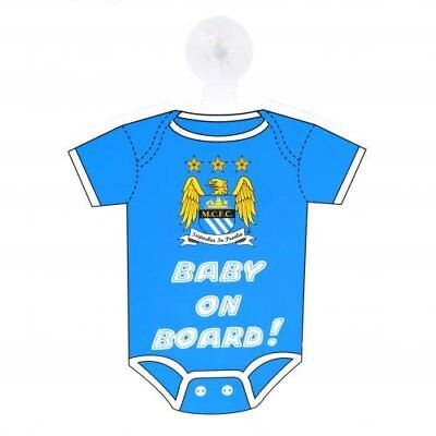 Manchester City Baby On Board Car Window Sign Hang Up Official Football Club