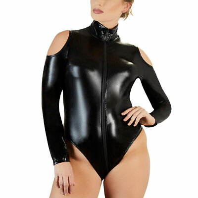 "Damen Body Wetlook 2-Wege-Zip Stehkragen Queen Size L XL 2XL 3XL 4XL ""Sidney"""