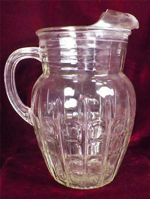 Anchor Hocking Highpoint Water Pitcher Lemonade Vintage 1940s Test Sample Scarce