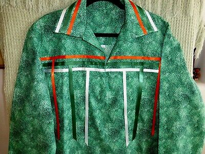 Auth.Native American Indian Northern Ute Handmade Man's Ribbon Shirt/Size Large