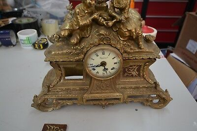 Large Brass Repro Imperial Clock,