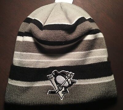 3d5554ef8c3 RARE Pittsburgh Penguins Stocking Cap Beanie ADULT NEW w Tags Adidas NHL  Hockey