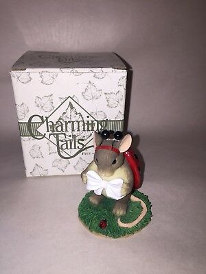 """Limited Dean Griff Mice Figurine Limited Charming Tails """" Your My Inspiration """""""