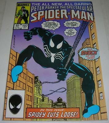 SPECTACULAR SPIDER-MAN #107 (Marvel 1985) 1st appearance of SIN-EATER (FN/VF)