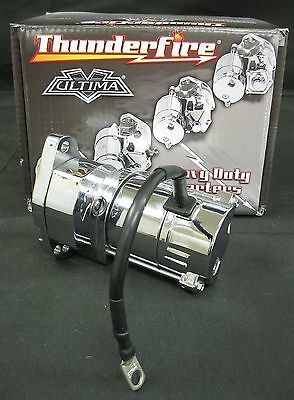 Ultima Chrome Thunderfire Starter for 80'/85' FLT, FLHT, FXR 5 Speeds