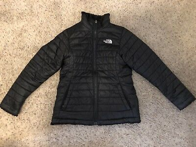 THE NORTH FACE GIRLS -YOUTH REVERSIBLE MOSSBUD SWIRL JACKET- Child Large BLACK