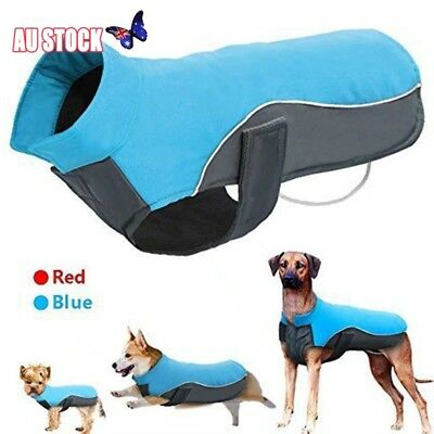 Reflective Waterproof Dog Coat Winter Warm Padded Pet Puppy Clothes Jacket S-3XL