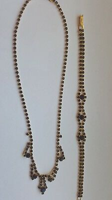 Tolles,collier Armband Granat