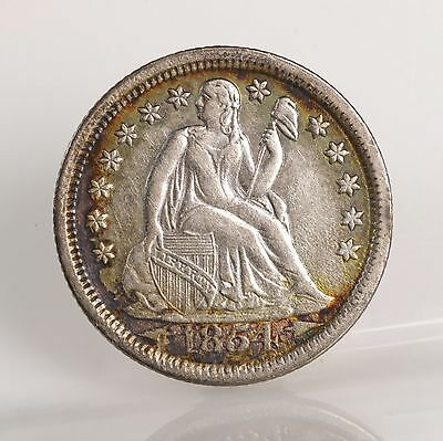 Raw 1854 Seated Liberty 10C W/ Arrows Uncertified Ungraded Silver Dime Coin
