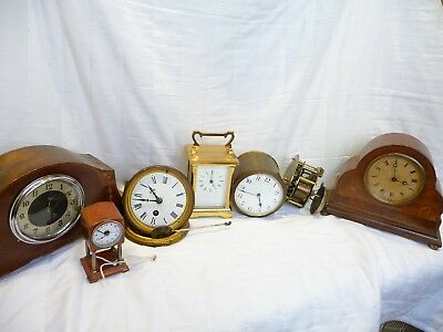 Antique Clocks For Spares Or Repairs French German Swiss Etc Mantel Clocks