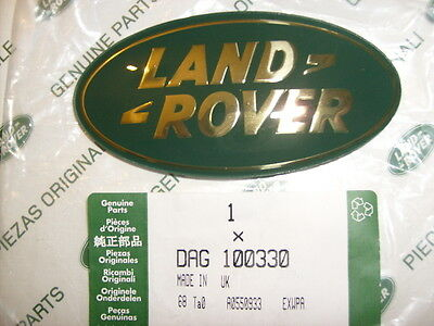 Genuine Land Rover Discovery 2 Grille Badge Gold On Green Dag100330