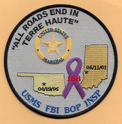 C22 * Vwhite Fboi Terre Haute Jttf Terrorism Federal Agent Police Patch Bombing