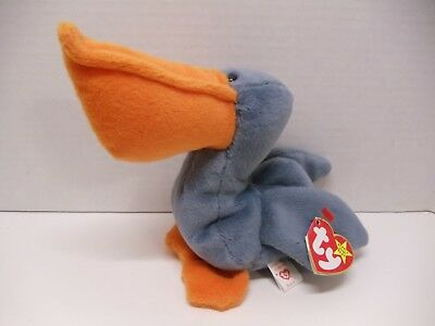 TY Retired Beanie Babies - SCOOP the pelican - 1996 - Hang Tags