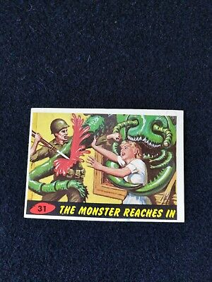 1962 Topps, Bubbles Inc. Card #31 The Monster Reaches In