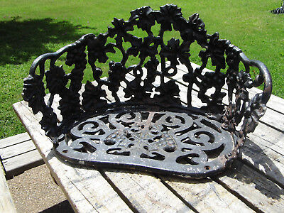 Vintage Cast Iron Chair Seat Part WITHOUT LEGS For Patio Yard Garden Wall