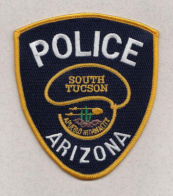 H31 * Htf South Tucson Police Arizona State Gold Border Patch