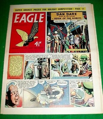 Eagle Comic 7/6/1957 With Lyons Maid Ice Cream Production Super Cutaway Drawing